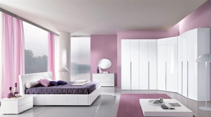 Foto di camera da letto bianca n.25