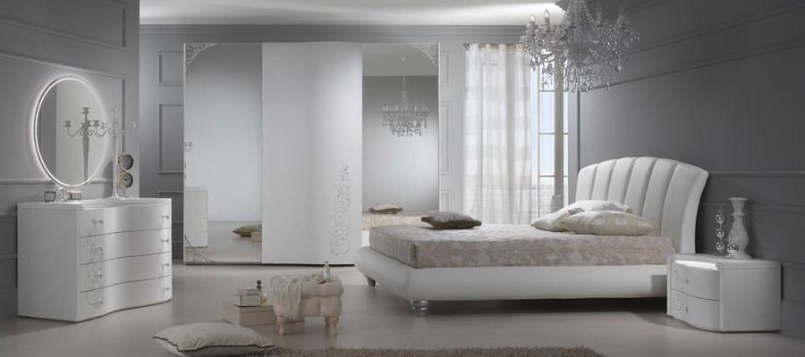 Foto di camera da letto bianca n.26
