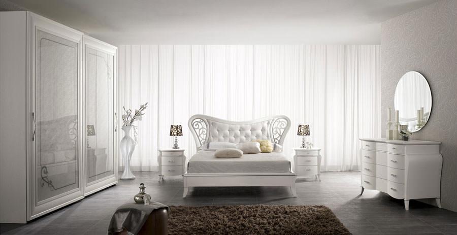 Foto di camera da letto bianca n.29