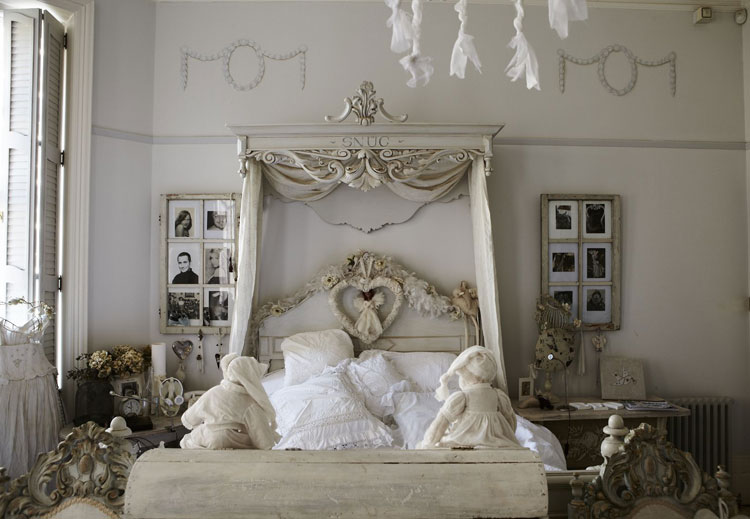 40 esempi di arredamento shabby chic per la camera da for Bedroom inspiration shabby chic