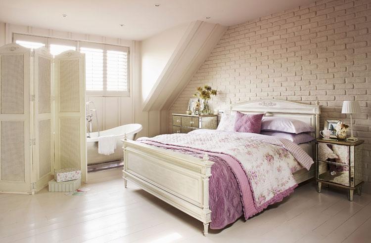 40 esempi di arredamento shabby chic per la camera da letto ... - Camera Da Letto Country Chic