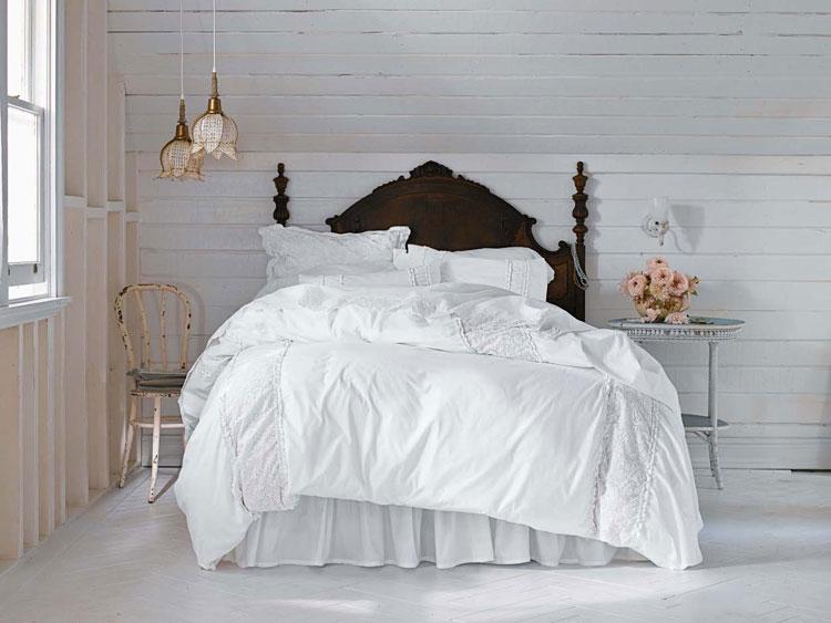 Letti Matrimoniali Shabby Chic : Esempi di arredamento shabby chic per la camera da letto