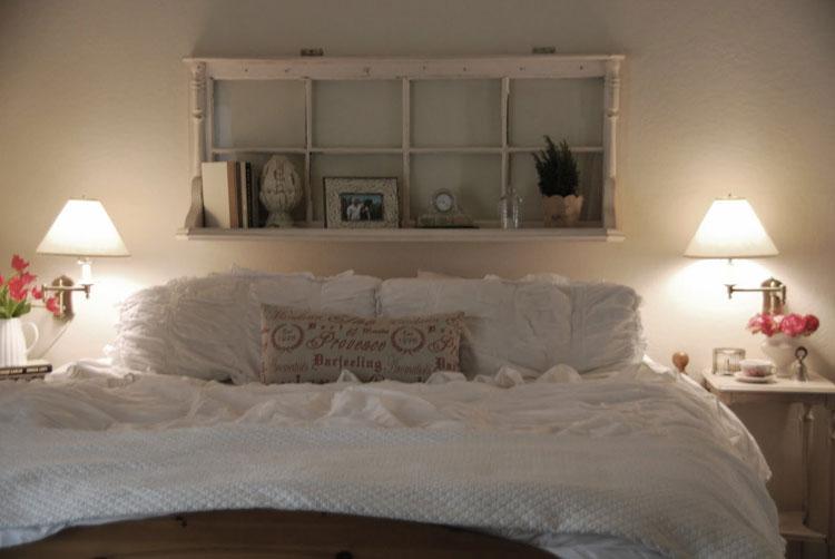 Camera da letto in stile shabby chic n.09