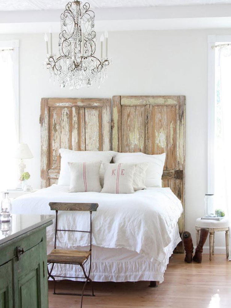 40 esempi di arredamento shabby chic per la camera da letto. Black Bedroom Furniture Sets. Home Design Ideas