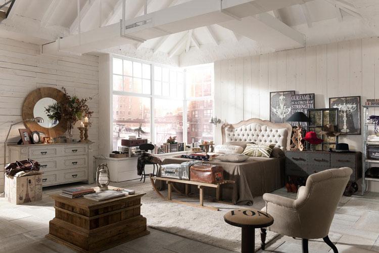40 esempi di arredamento shabby chic per la camera da for Arredamento camera da letto stile provenzale