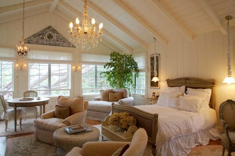 Camera da letto in stile shabby chic n.27