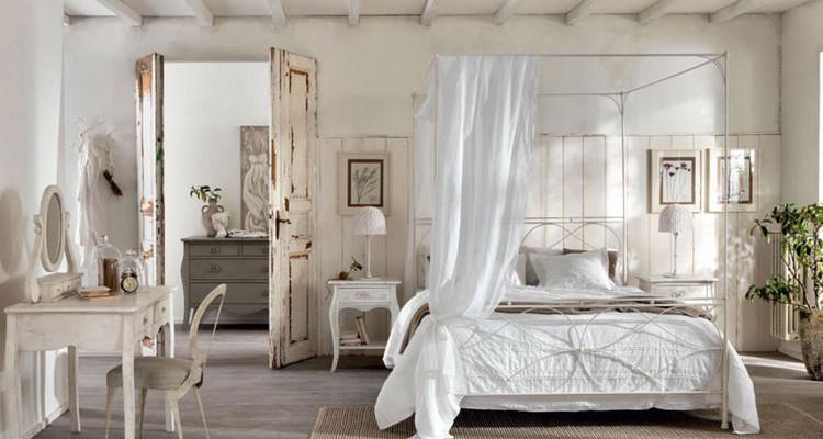 Camere Da Letto Matrimoniali Da Sogno : Esempi di arredamento shabby chic per la camera da letto