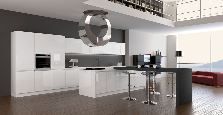 20 splendide cucine dal design minimalista for Arredamento hi tech