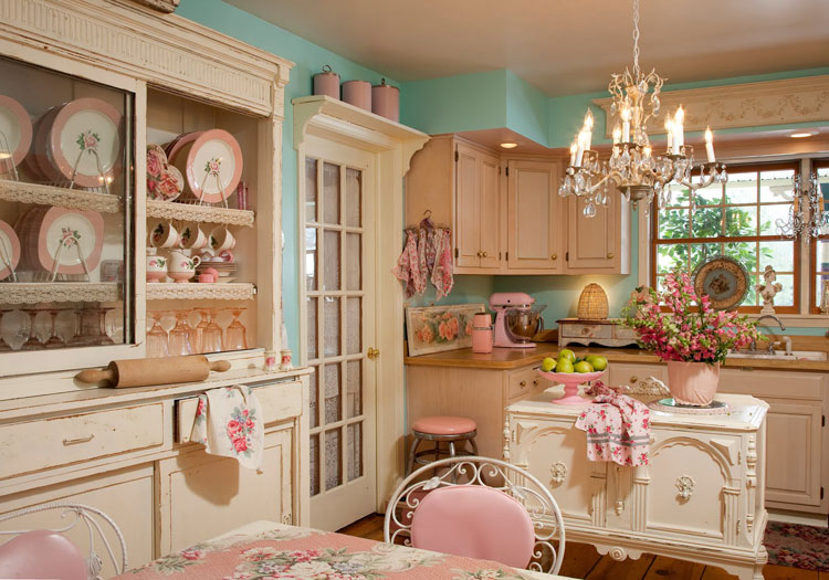 cucina shabby chic in stile provenzale n01
