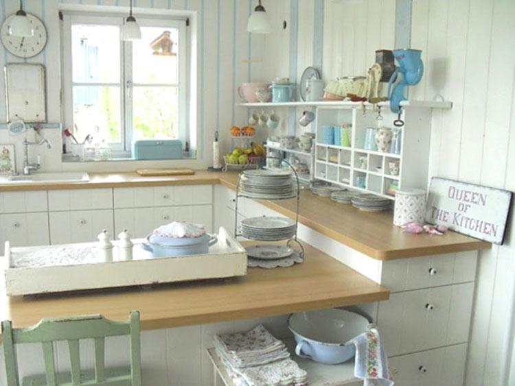 Cucine shabby chic 50 idee per arredare casa in stile for Arredamento romantico chic