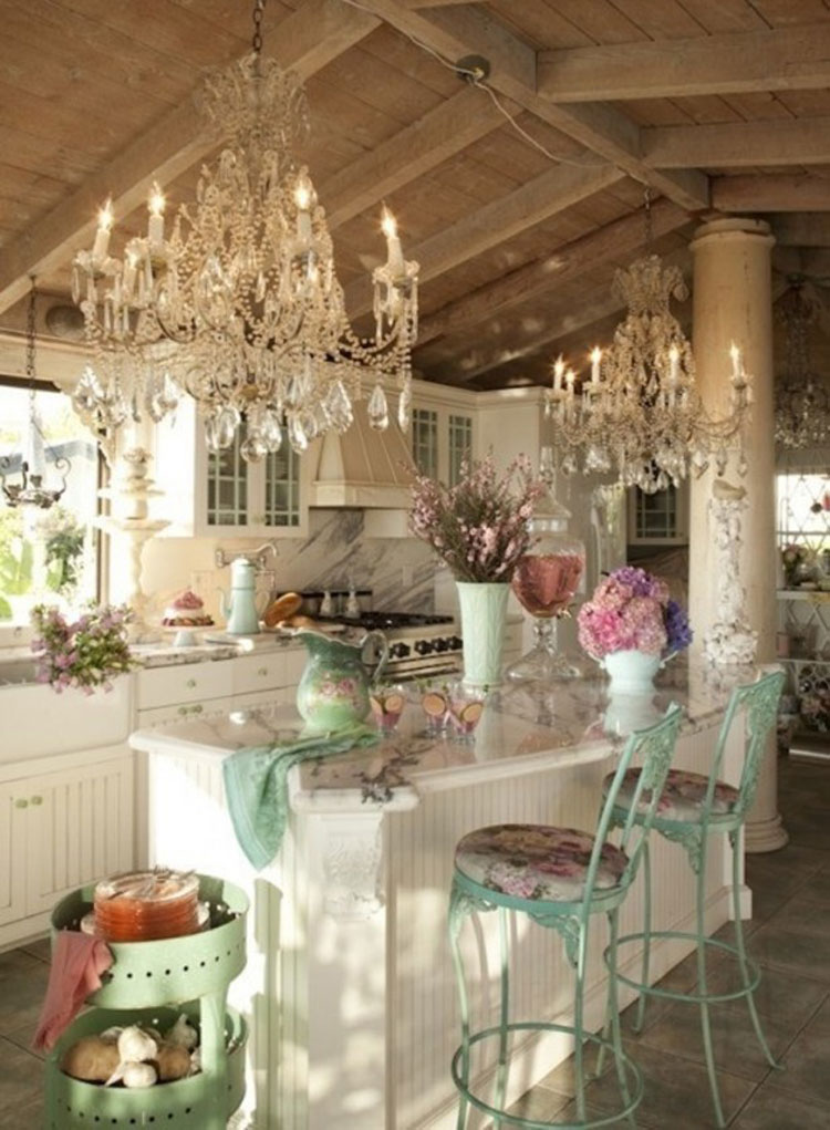 Cucina shabby chic in stile provenzale n.08