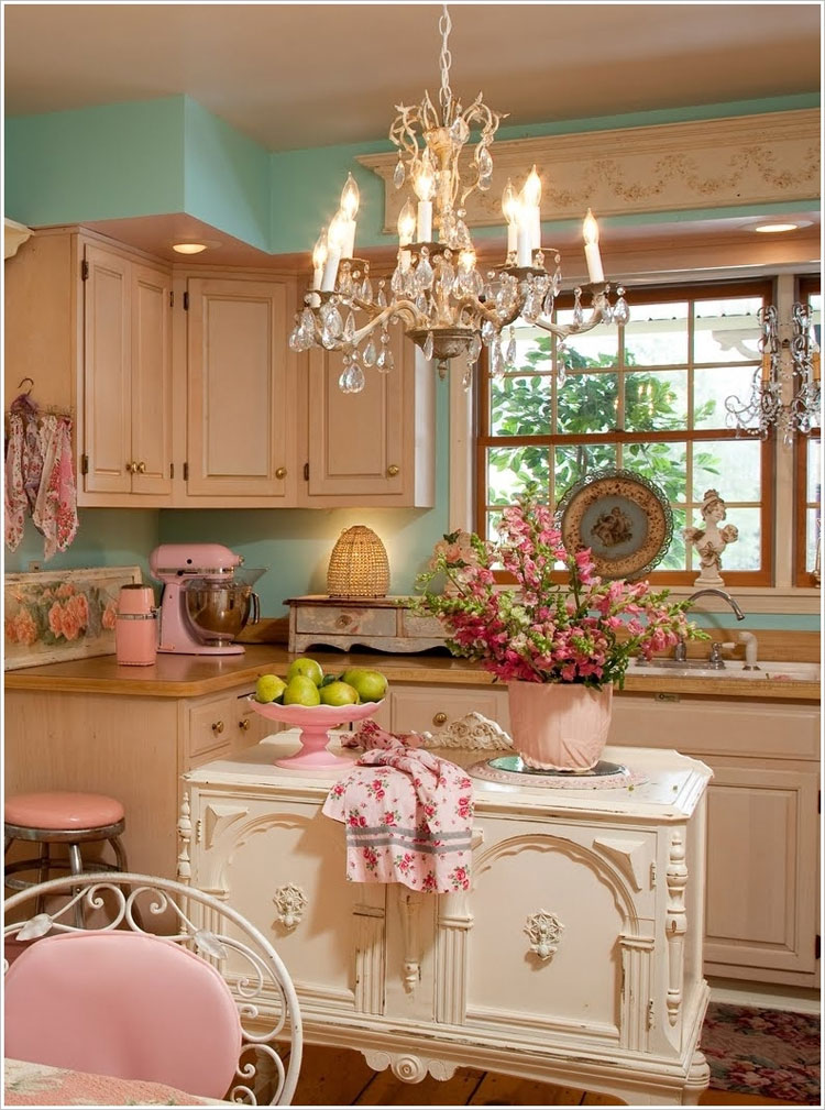 Cucina shabby chic in stile provenzale n.16