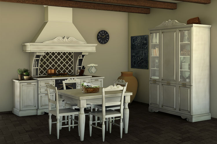 Cucine shabby chic 30 idee per arredare casa in stile for Grandi case in stile ranch