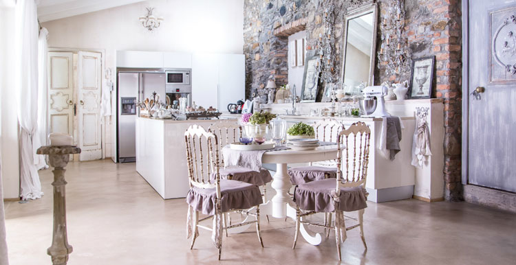 Cucina shabby chic in stile provenzale n.23