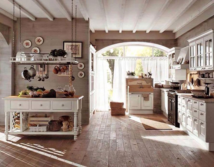 cucina shabby chic in stile provenzale n27