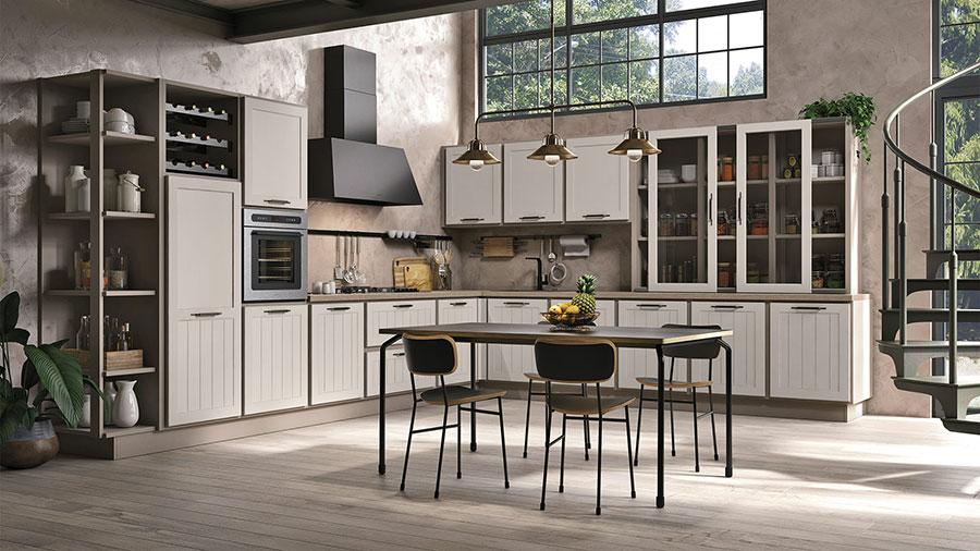 Modello di cucina shabby chic Lube n.3