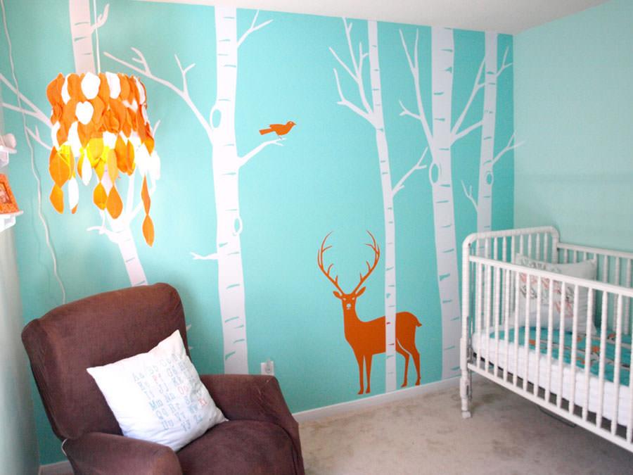 Disegni murali per decorare gli interni n.09