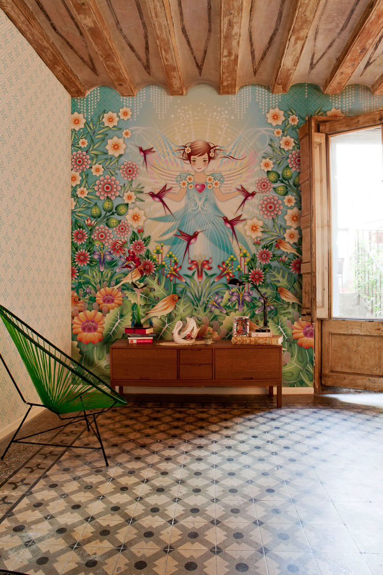 Disegni murali per decorare gli interni n.11