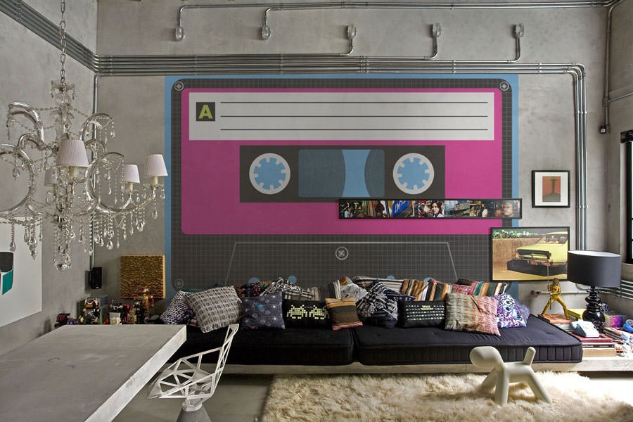 Disegni murali per decorare gli interni n.38