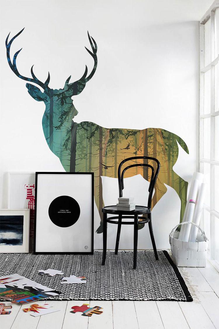 Disegni murali per decorare gli interni n.46