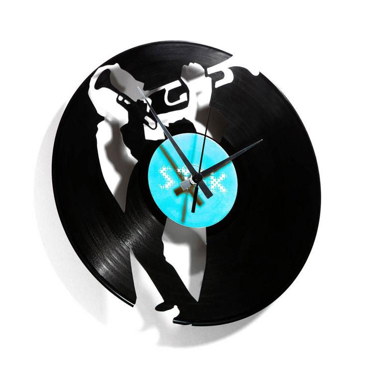 Orologio in vinile con trombettista