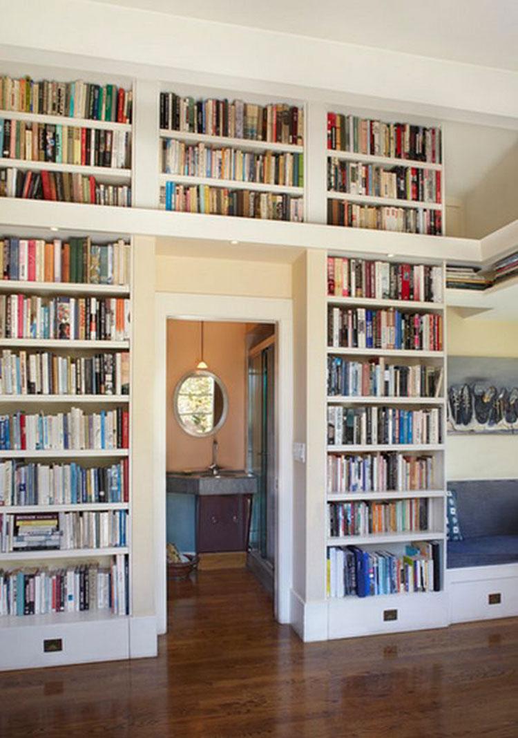 40 вариантов оформления домашней библиотеки с участием книжн.