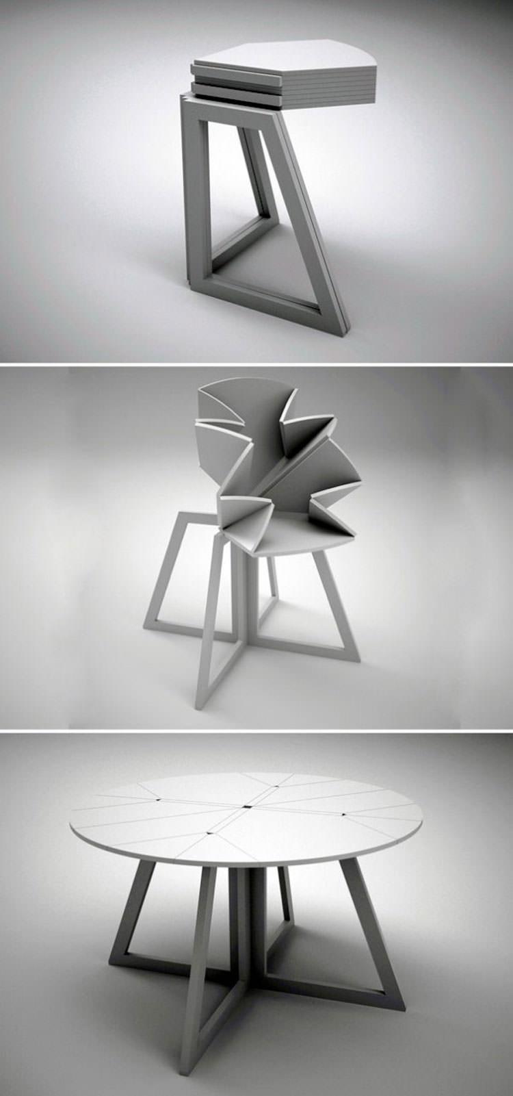 30 tavoli allungabili moderni dal design particolare for Tavolo rotondo allungabile design moderno