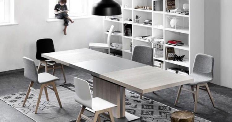 30 tavoli allungabili moderni dal design particolare for Tavoli allungabili moderni