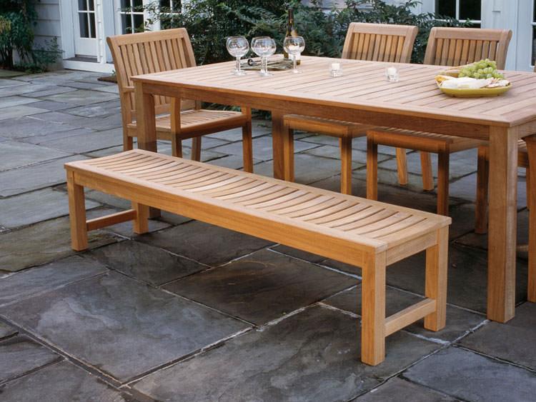Foto del tavolo da giardino in legno n.04