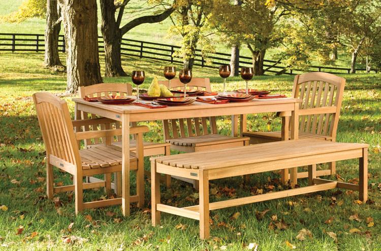 Foto del tavolo da giardino in legno n.05