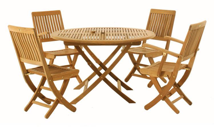 Foto del tavolo da giardino in legno n.11