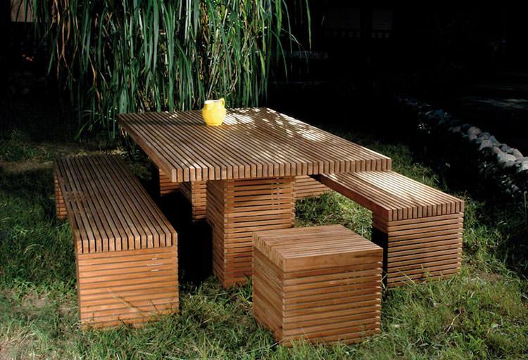 Foto del tavolo da giardino in legno n.13