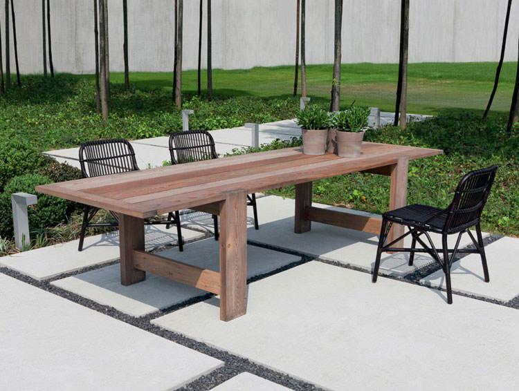 Foto del tavolo da giardino in legno n.15