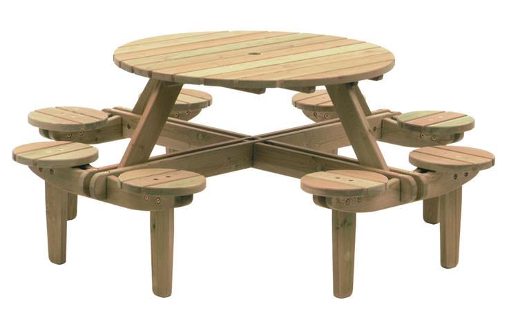 Foto del tavolo da giardino in legno n.17