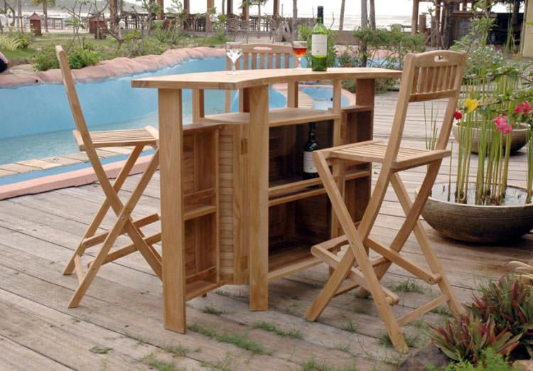 Foto del tavolo da giardino in legno n.24