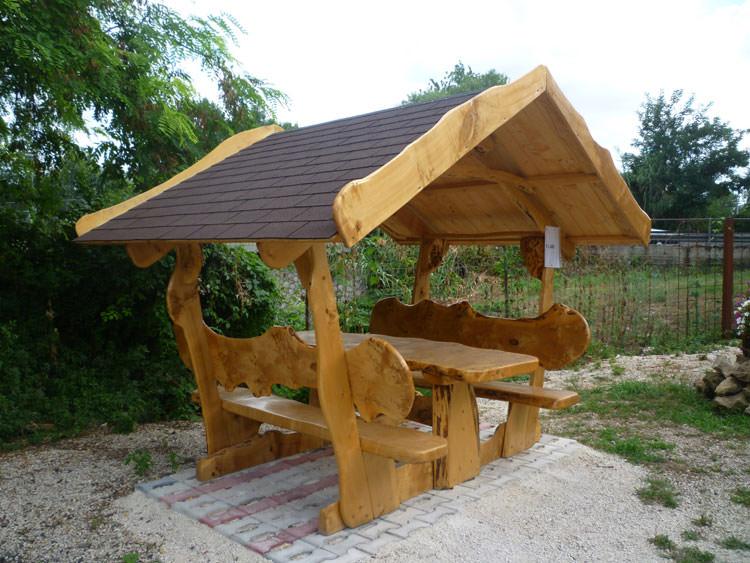 Foto del tavolo da giardino in legno n.30