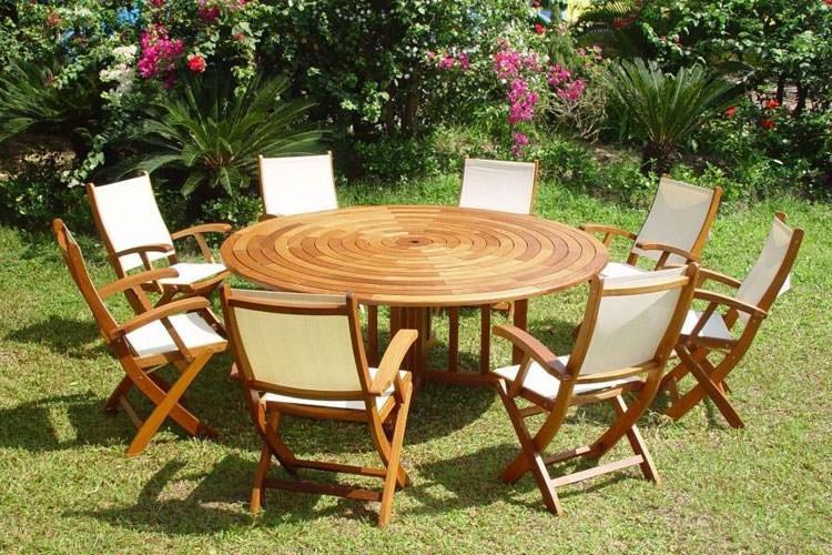 Foto del tavolo da giardino in legno n.34