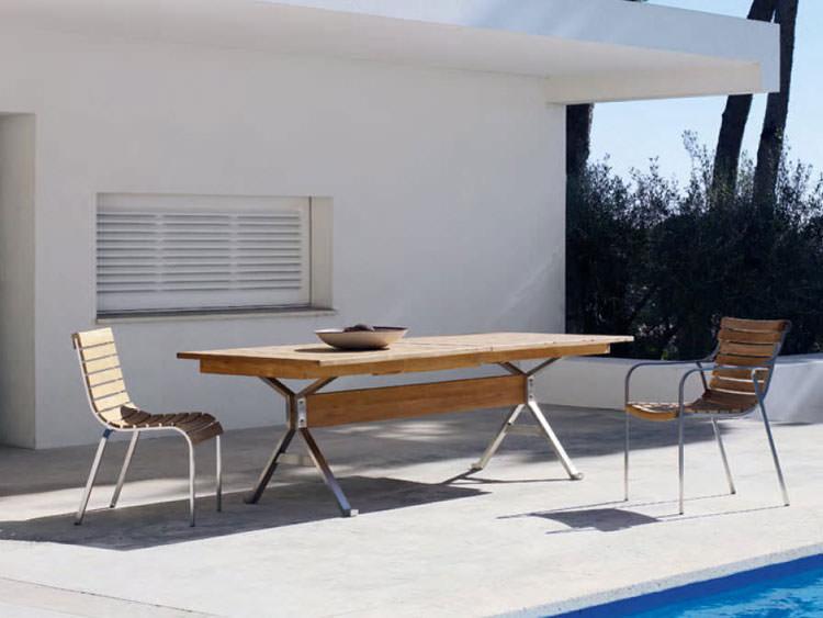 Foto del tavolo da giardino in legno n.38
