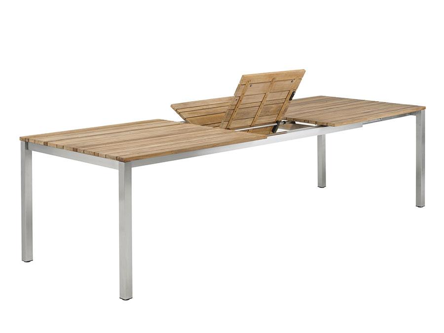 Modello di tavolo da giardino in legno allungabile n.05