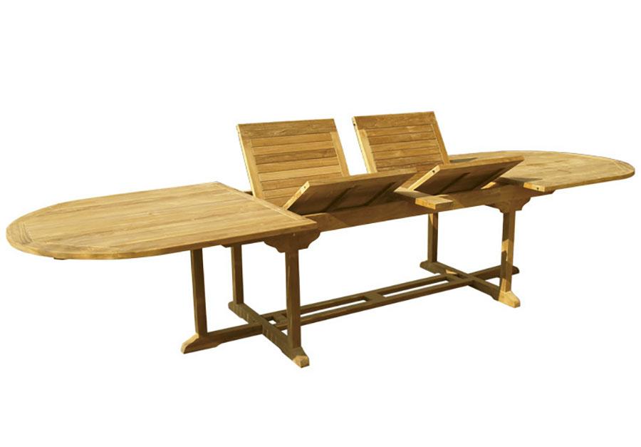 Modello di tavolo da giardino in legno allungabile n.09