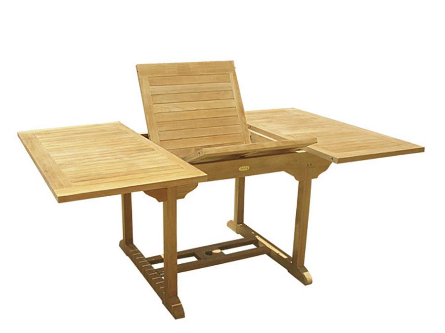 Modello di tavolo da giardino in legno allungabile n.10