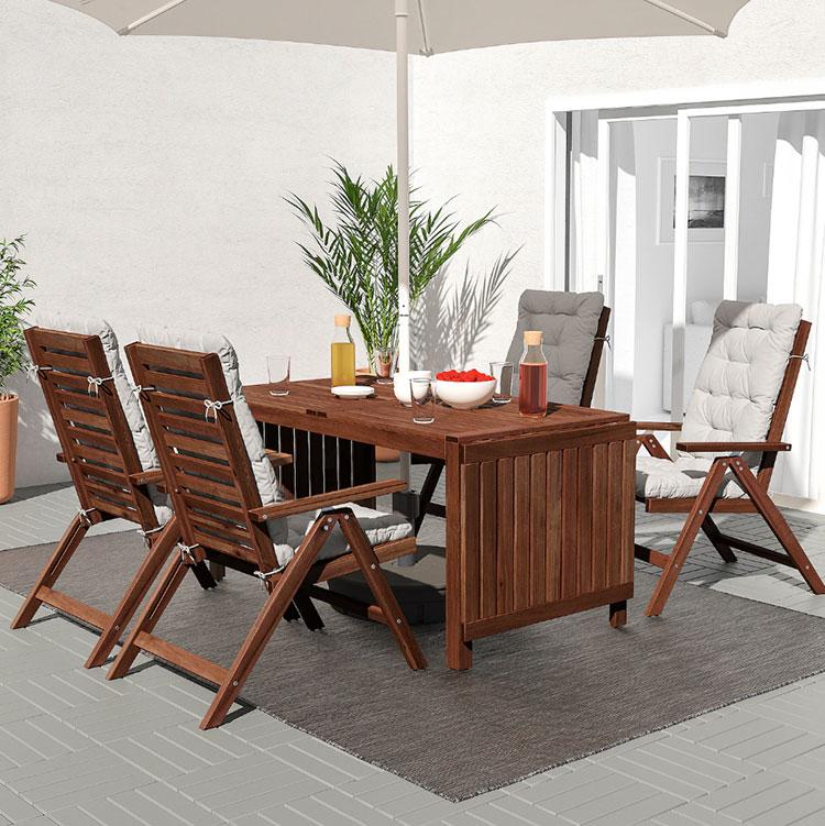 Modello di tavolo da giardino in legno Ikea n.03