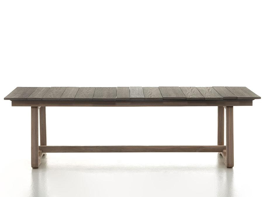 Modello di tavolo da giardino in legno teak n.03