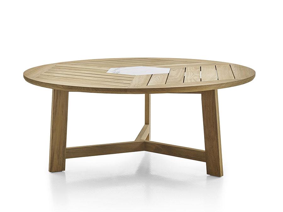 Modello di tavolo da giardino in legno teak n.09