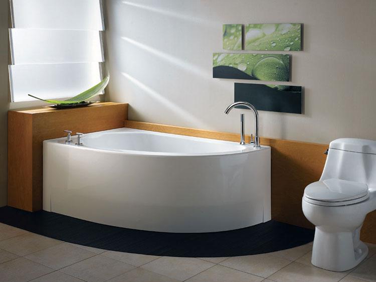 50 bellissime vasche da bagno angolari moderne - Vasche bagno angolari ...