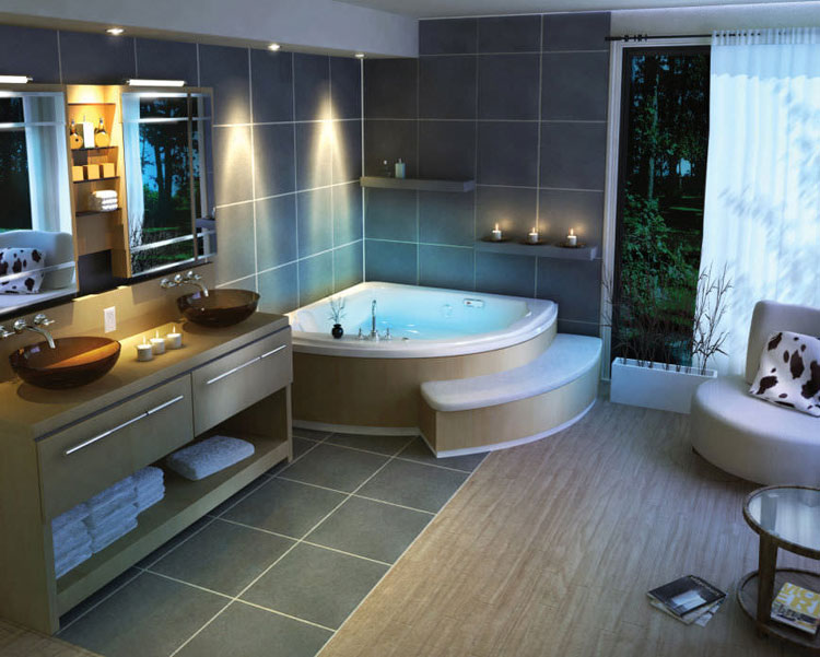 bagni moderni con vasca angolare | sweetwaterrescue - Bagni Moderni Con Vasca