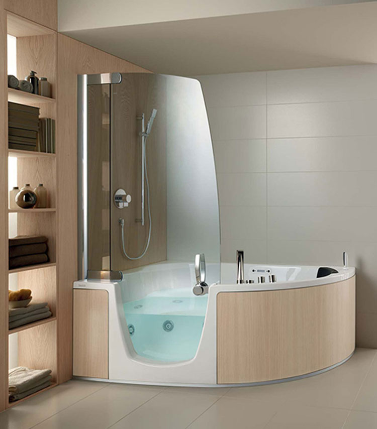 50 Bellissime Vasche da Bagno Angolari Moderne | MondoDesign.it