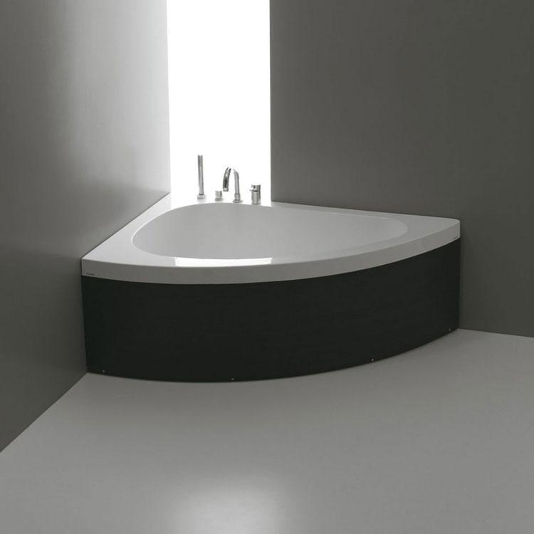 50 bellissime vasche da bagno angolari moderne - Vasca da bagno angolare misure ...
