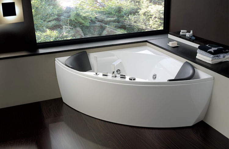 50 bellissime vasche da bagno angolari moderne - Ricoprire vasca da bagno prezzi ...