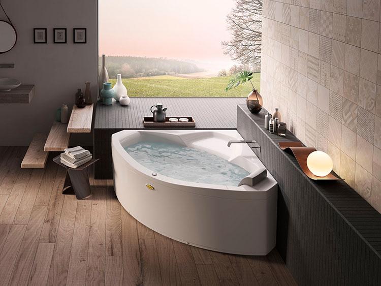 Modello di vasca da bagno idromassaggio angolare n.01
